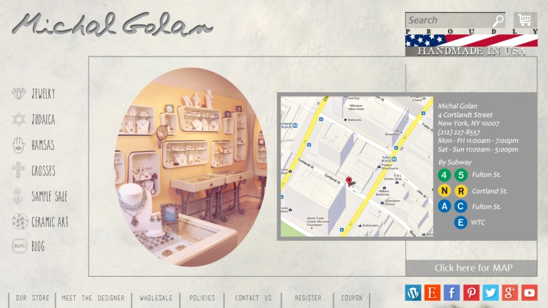 our store map
